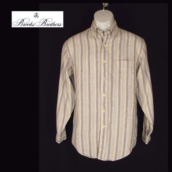 e470b7a0b Brooks Brothers Other - Brooks Brothers Irish Linen Shirt Mens S Stripes